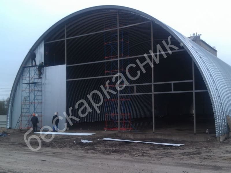 4. Установка стен и ворот зернохранилища